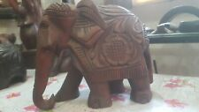 Handmade Woden Ancient Elephant Home Office Decoration