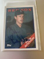 1988 Topps #442 Tom Bolton Red Sox signed autographed Auto In Person Autograph