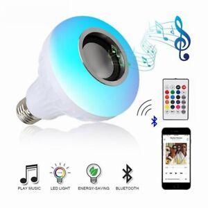 12W E27 Smart RGB Wireless Bluetooth Speaker Bulb Lamp LED Light Music Player