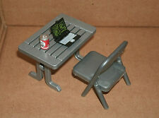1/18 Scale Laptop Computer, Desk, Chair, And Soda Can - Office Diorama Accessory