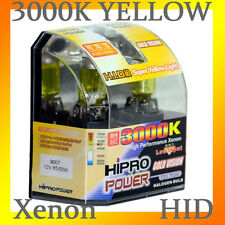 9007 HB5 3000K GOLDEN YELLOW XENON HID HALOGEN HEADLIGHT BULBS - LOW&HIGH BEAM