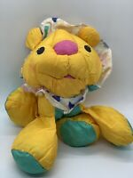 FISHER PRICE BABY PUFFALUMP LION RATTLE STUFFED ANIMAL PLUSH TOY VINTAGE 1995