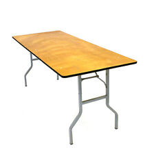 New 6' x 2'6'' Varnished Wooden Tables, folds flat, DIY Table, Exhibition Tables