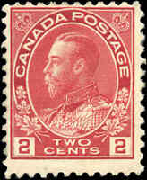 1917-22 Canada Mint H  2c F Scott #106 KGV Admiral Issue Stamp