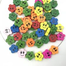 Mixed Loose Beads Smiley face Flower Wood bead Pacifier Clip Accessories Beads