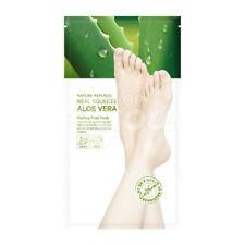 Nature Republic Real Squeeze Aloe Vera Peeling Foot Mask 1 Pack 25g X 2