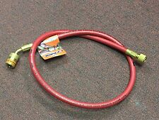 "Refrigeration Low Loss Hose, Red, 36"" Charging Hose w/ANTI-BLOW-BACK Fitting, 1/"