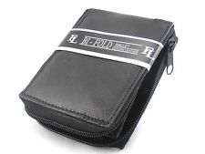 New Mens Zipper Around Bifold Wallet Genuine Leather Black Organizer Id Window