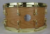 Click 7x14 Red Oak Snare Drum W/Brass Hardware Natural Satin Oil Finish