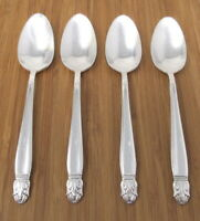 Holmes & Edwards Danish Princess Teaspoons Inlaid Silverplate Set of 4 Lot IS