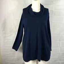 J. Jill Cowl Neck Long Sleeve Sweater Knit Tunic Top SZ XL