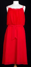 Biba Red Pleated Dress Size 10