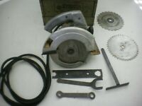 "Vintage Porter-Cable Rockwell 7 1/4"" Model 315 Circular Saw in Orig Case"