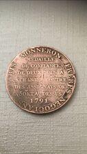 Piece 1 Sol Annee 1791