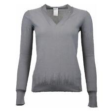 Melys V-Ausschnitt Pullover Damen Grau Gr. 38 (ehem. UVP € 298,00)