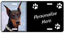 Doberman Pinscher, black & tan #2 auto License Plate