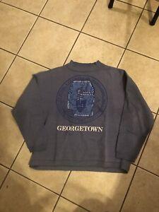 vintage 1990s georgetown university crest graphic mock neck sweatshirt