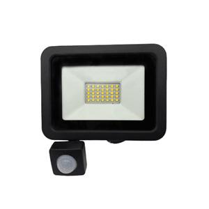 Faro led con sensore di movimento 10w 20w 30w 50w faretto con Pir slim nero ip65