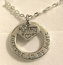 forever in my heart rememberance loss necklace choose message charm gift box