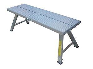2.5m Aluminium Plasterer Work Platform Trestle - High 550-800mm - Double width