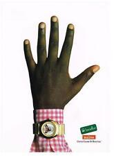 PUBLICITE ADVERTISING  1989   BULOVA  montre pour UNITED  COLORS OF BENETTON