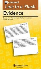 Law in a flash : Evidence 2011 by Steven Emanuel (2009, Flash Cards!)