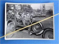 Foto Offiziere in PKW Wehrmacht Kübelwagen Wanderer lustige Mützentrageweise