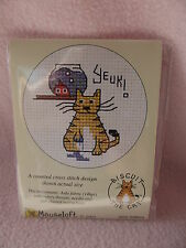 MOUSELOFT STITCHLETS CROSS STITCH KIT ~ BISCUIT THE CAT ~ YEUK! ~ NEW