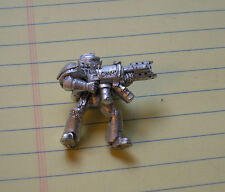 40k Rare oop vintage Metal Space Marine Grey Knight Trooper w Incinerator