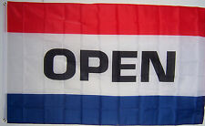 NEW 3 FT x 5 FT OPEN BUSINESS SIGN BANNER FLAG au