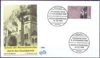 BRD 1988: Pogrom vom 9.11.38! FIDACOS FDC der Nr 1389 mit Bonner Sonderstempeln!