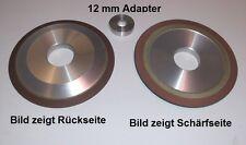 Schärfgerät Diamantscheibe +Adapter 12mm Bohrung Stihl Duro Sägekette Hartmetall