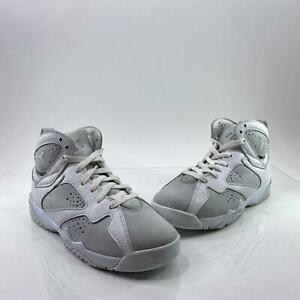 Air Jordan 7 Youth Sz 6.5Y White Metallic Retro GS Pure Money Shoes 304774 120