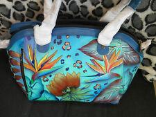 Anuschka Handpainted Leather 561 Mini Convertible Tote Tropical Dream NWT  $250