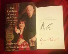 """Anderson Cooper & Gloria Vanderbilt""...signed book!...""The Rainbow Comes and..."