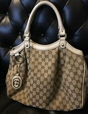 Gucci Hand Bag Sukey Light Brown GG Canvas 1131635