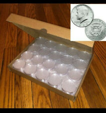 50 DIRECT FIT AIRTIGHT 30.6MM JFK HALF DOLLAR COIN HOLDERS CAPSULES