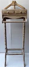 Servomuto appendiabiti in legno di mogano color bianco cm 123x40x40 uomo morto