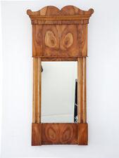 Antiker Biedermeier Wandspiegel in Kirschholz Schellack handpoliert, Spiegel