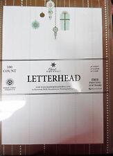 Christmas Letterhead Mocha Ornaments - 8.5x11 injet copier laser 100 Sheets NEW