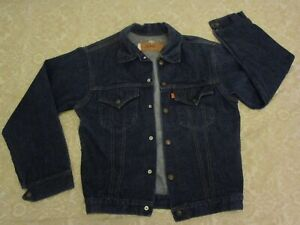 Vtg 1970s Levis Denim Jacket Orange Tab Youth sz 22 70705-0317  Blue Jean