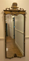 "Antique Vintage French Carved Gilt Gold Wood Full Length Pier Mirror,70"" WE SHIP"