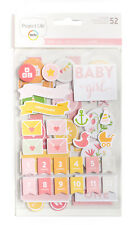 Project Life BABY GIRL (52) CHIPBOARD STICKERS scrapbooking 380526