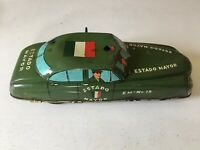 Plastimark Tin Mexican Police Car Mexico Very Rare 1950's Estado Mayor