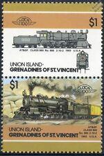 1903 atsf classe 900 n ° 900 2-10-2 (Santa Fe Railway) train timbres / loco 100