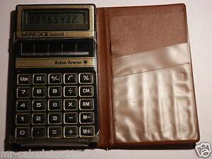 RARE VINTAGE  BRINLOCK 6000 B Solar Power Calculator