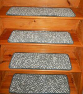 "14 Step  9"" x 29"" + 1 Landing 29"" x 30"" Stair Treads 100% Wool  Carpet"