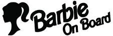 Barbie a bordo vinilo autoadhesivo con-Varios Colores