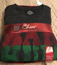 NEW CHEERS HOLIDAY BAH HUM BAH 2PC  Pajama Lounge Sleep SET MEN LARGE