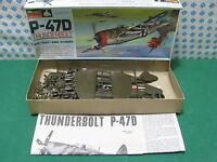 "Rare Vintage Monogram - Thunderbolt P-47D - 1/4 "" Monogram"